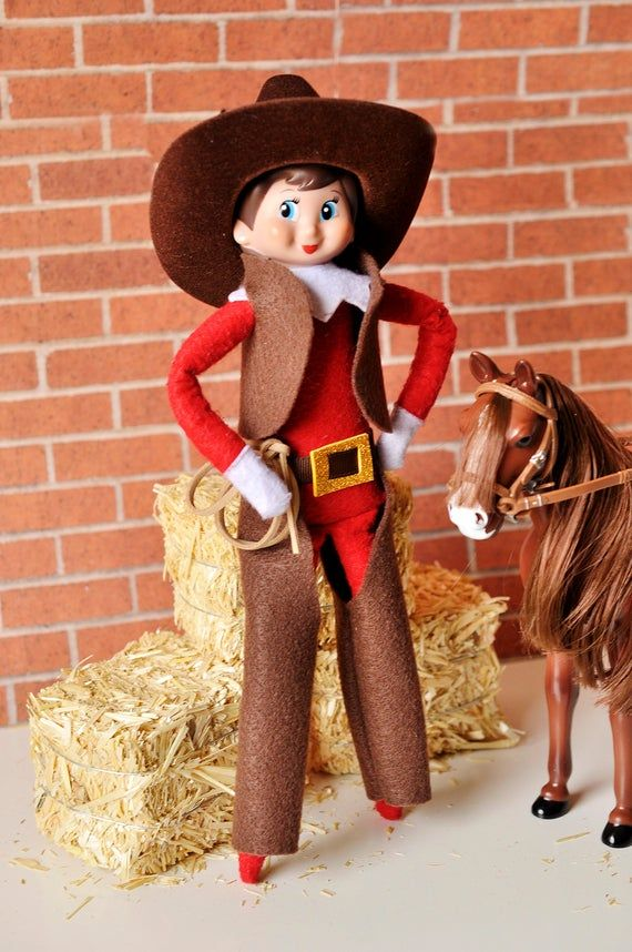 Cowboy and Cowgirl Elf Outfit #cowboysandcowgirls