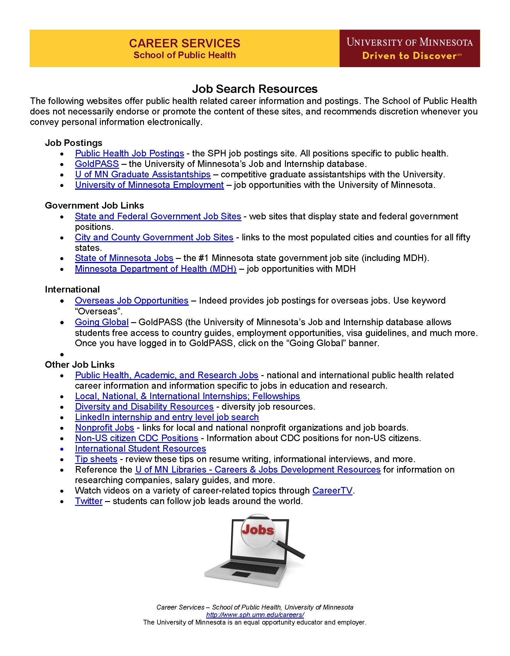 Job Search Resources Job Board Job Posting Job Search Tips