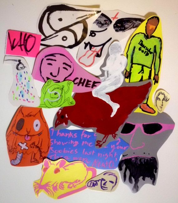14 hand drawn stickers each one is unique made by an emerging artist have you seen chef some stickers inspired by filthy frank leol