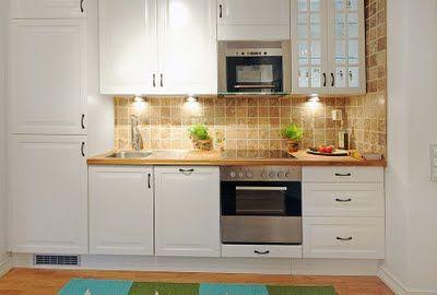 Espacios Pequenos Una Casa De 40 Metros Cuadrados Kitchen Dining Kitchen Kitchen Cabinets