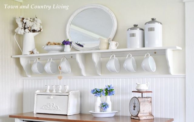 bluebells in our farmhouse kitchen shelving open shelving and rh pinterest co uk country kitchen shelves country kitchen shelves ideas
