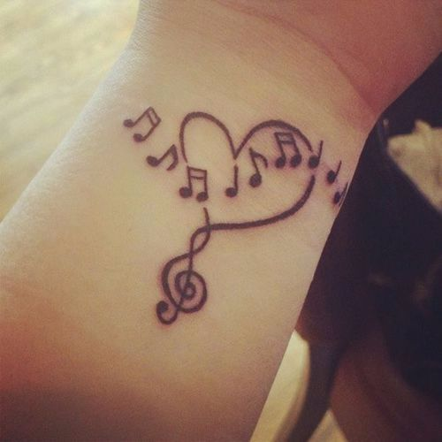 42 Treble Clef Tattoos With Significant Meanings Girly Tattoos