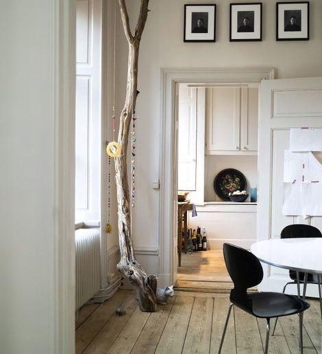 Innendekoration mit Zweigen - skandinavisches Design in der Küche - innendekoration ideen