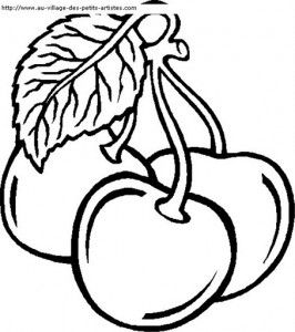 Cherry Coloring Page Fruit Coloring Pages Free Coloring Pages