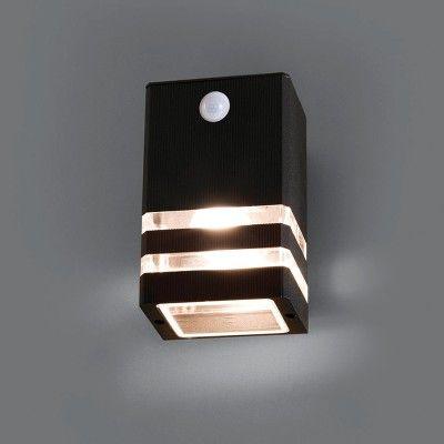 Edit Rio Outdoor Wall Light With Pir Sensor Black Lighting