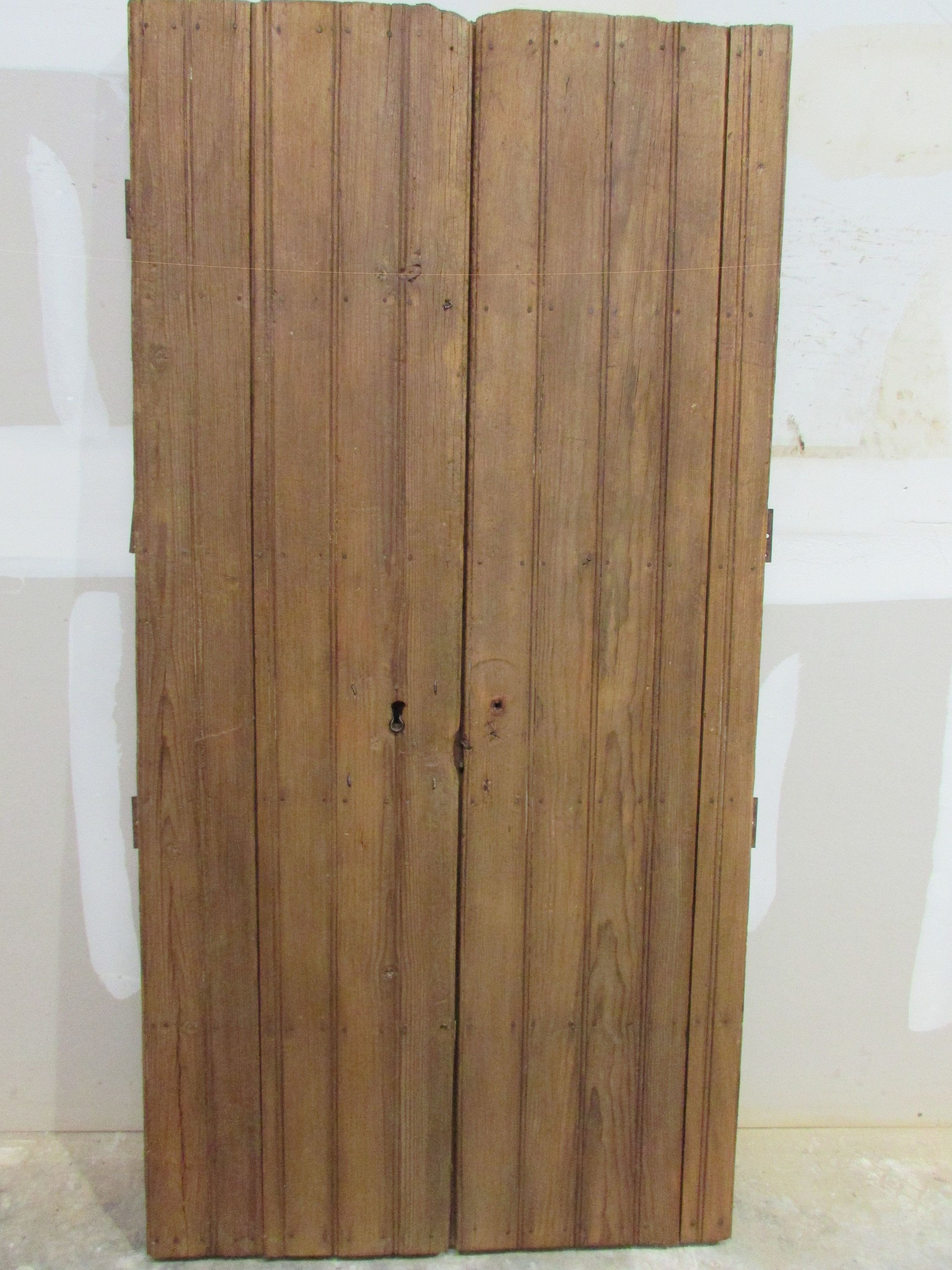 Antique Pair Mexican Pine Old Doors Primitive Rustic 39x80 Headboard Gorgeous Weathered Patina Barn Doors Brown Old Doors Barn Door
