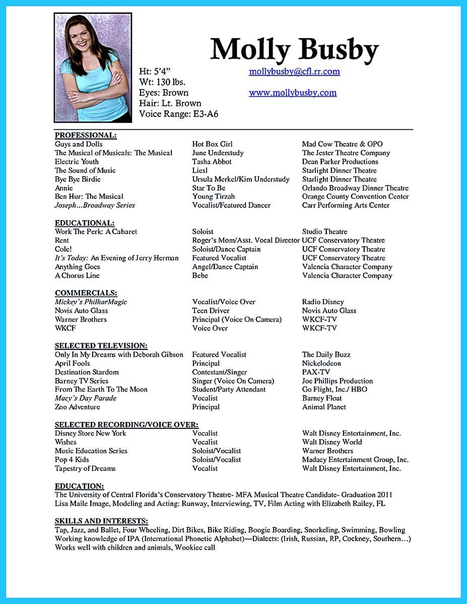 11 Resume Formats You Can Choose From Acting resume