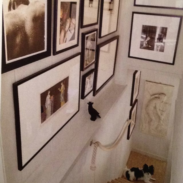 """Rope """"bannister"""", Gallery Wall"""