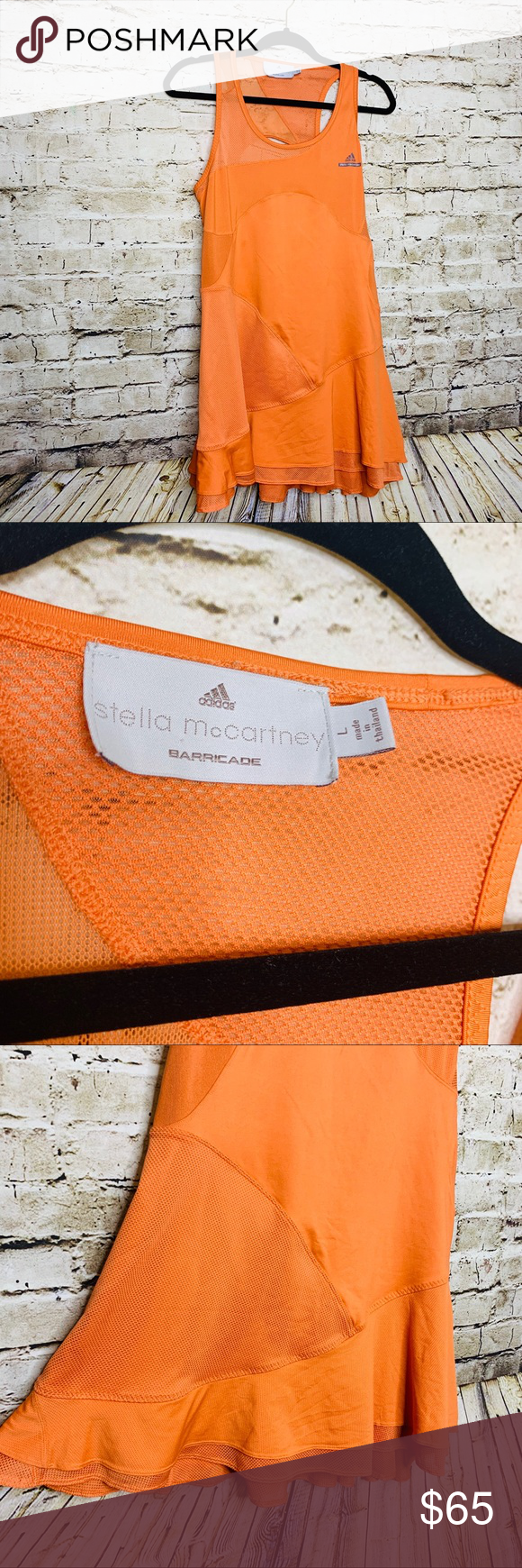 Stella McCartney Adidas Tennis Dress Orange L Rare Stella McCartney Adidas Tennis Dress Orange L Rare Stand out in this color and design. Open back. Adidas Barricade. Twirl skirt. Hard to find.  T7 Adidas by Stella McCartney Dresses Mini #twirlskirt Stella McCartney Adidas Tennis Dress Orange L Rare Stella McCartney Adidas Tennis Dress Orange L Rare Stand out in this color and design. Open back. Adidas Barricade. Twirl skirt. Hard to find.  T7 Adidas by Stella McCartney Dresses Mini #twirlskirt