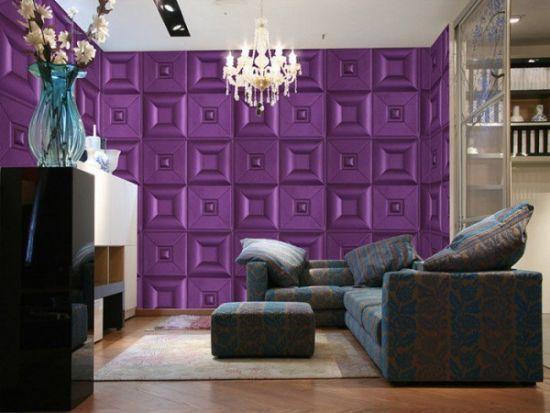 Best Accent Wall Ideas Purple Decor Geometric Livingroom Painted Diy Colorschemes Rustic Entrway Dining Creative Wallpaper
