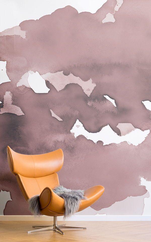 Rosa Abstrakte Aquarell Wallpaper Wandbild | Pinterest | Gray Furniture,  Pink Wallpaper And Wallpaper Murals