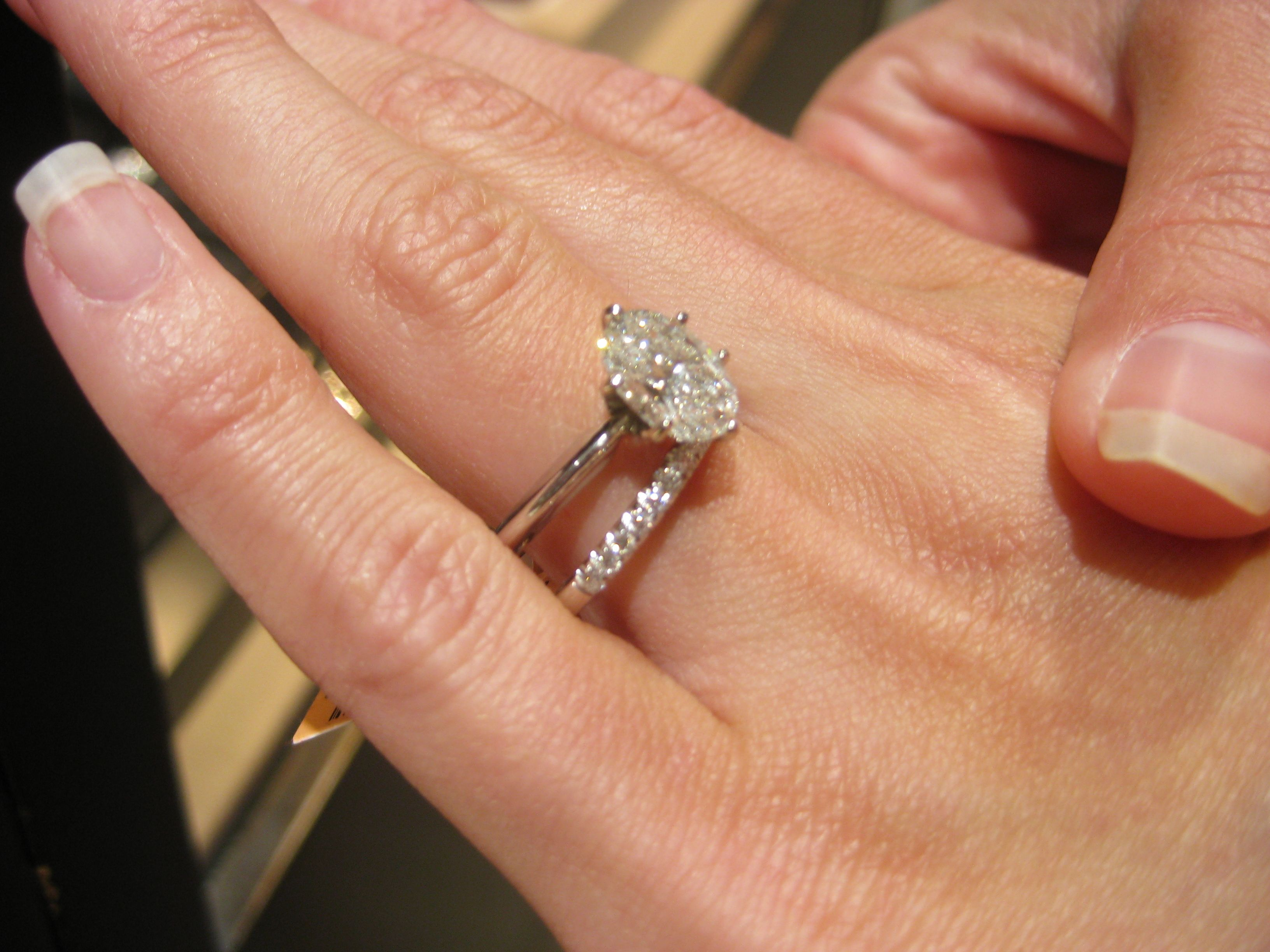 Love This Solitaire On Skinny Solid Band With Diamond Wedding Band 125  Carats