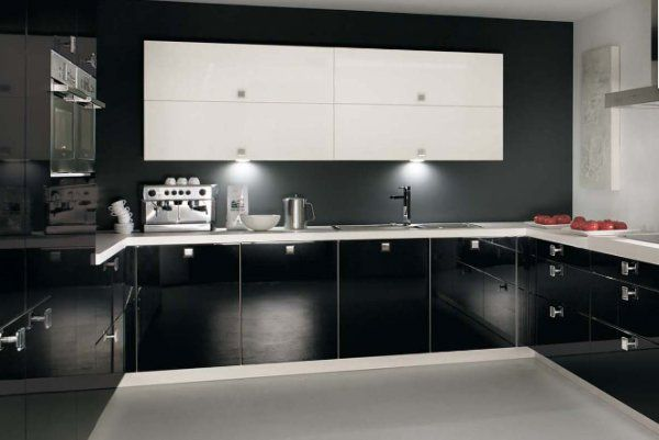 The Unexpected Stylish Look Of Black Kitchen Designs 24