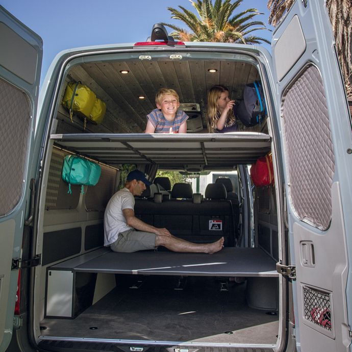 Sprinter Van Bunk Beds >> The Taylor Family Checking Out Their New Bunk Bed Setup Along With