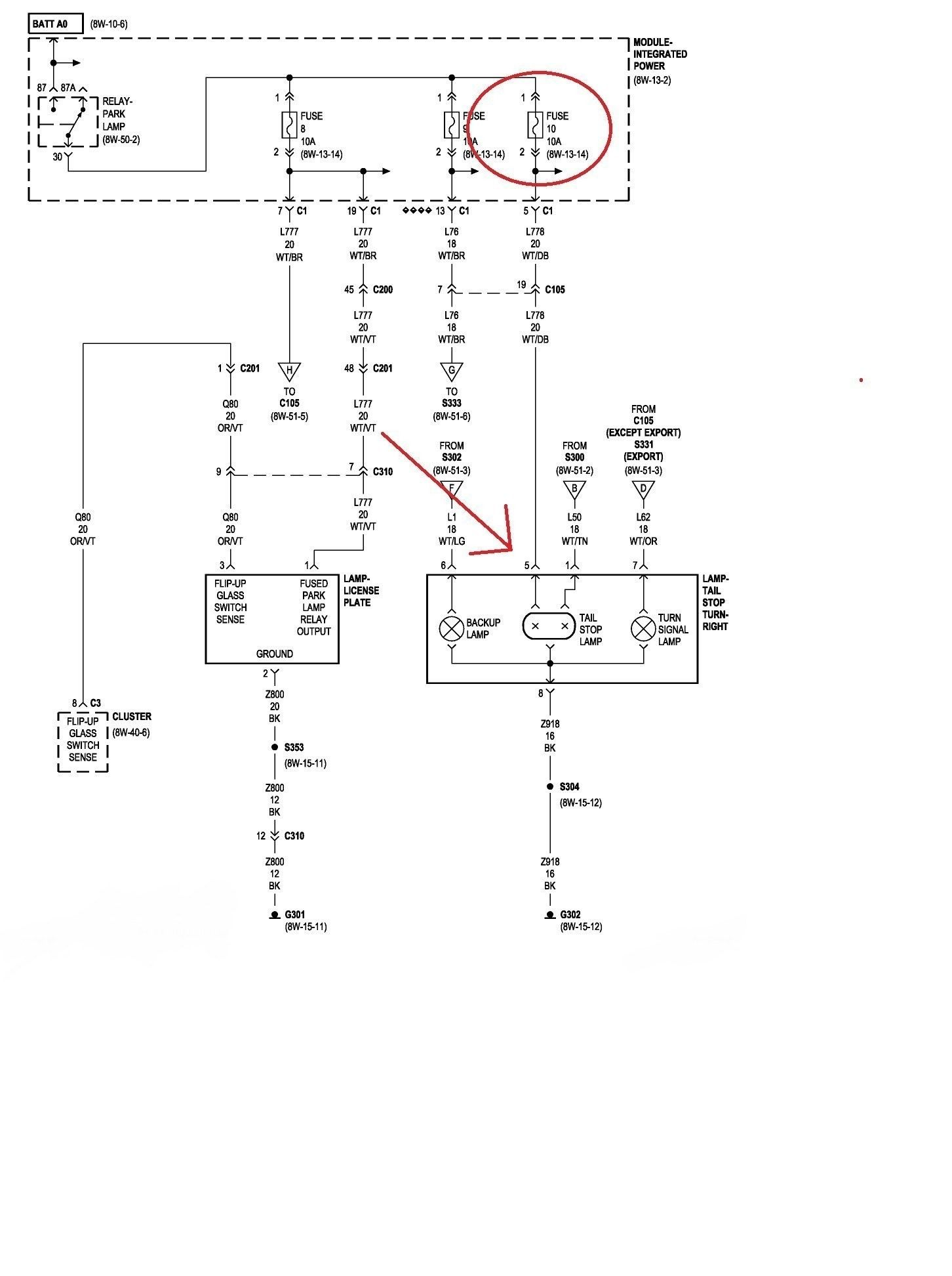 1997 Jeep Wrangler Taillight Wiring Diagram