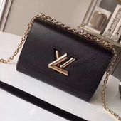 Photo of Louis Vuitton Epi Leather Twist MM Bag Black 2018 (Gold Hardware)  Louis Vuitton…