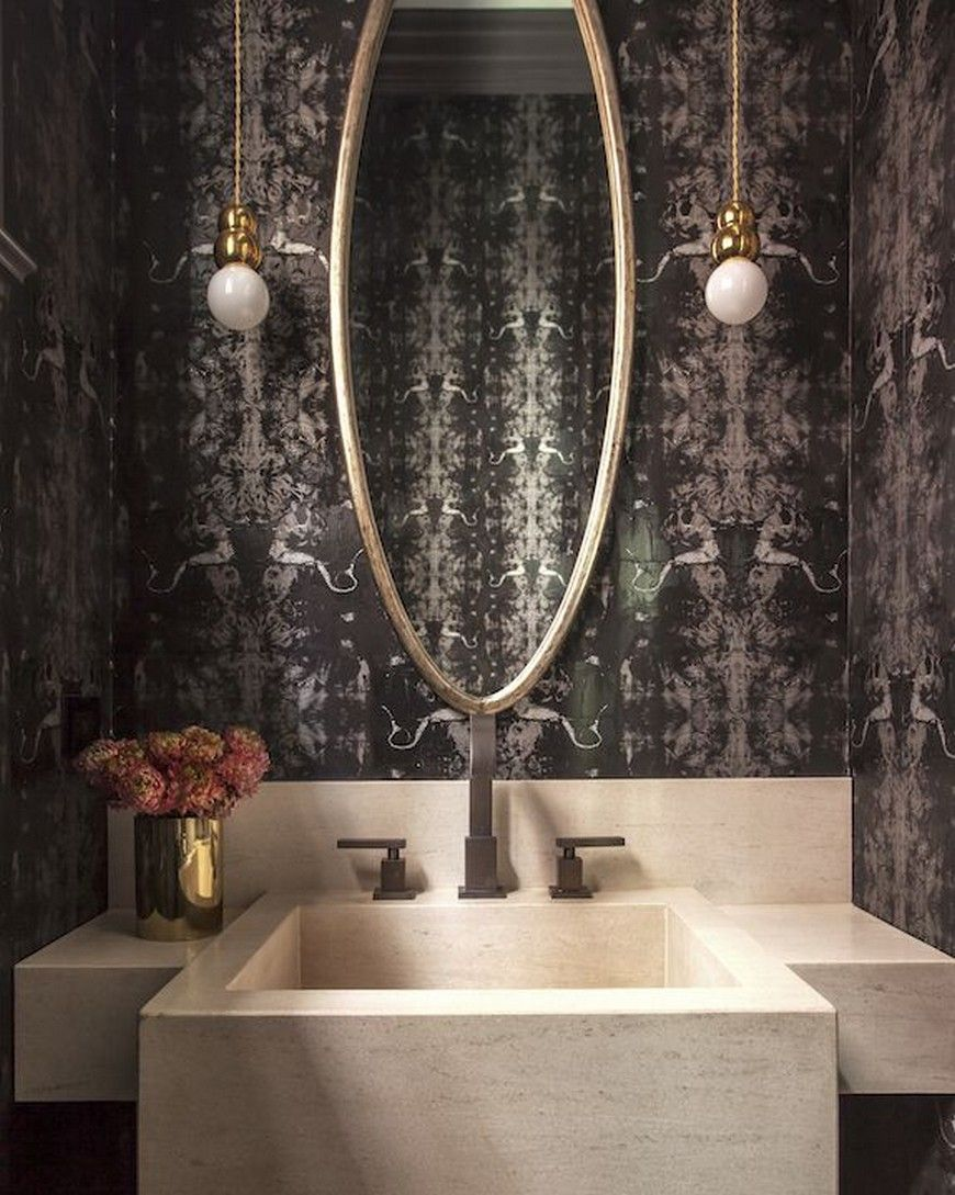 Design Inspirations: Help Yourself to a Cluster of Bold Powder Rooms #modernpowderrooms