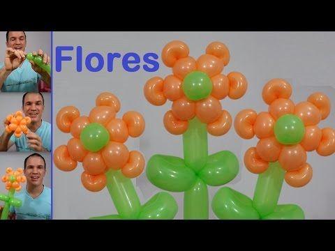 como hacer flores con globos largos globoflexia facil como hacer una flor con globos - Como Hacer Flores Con Globos