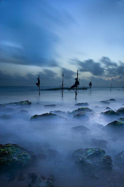 The Fishermen Blue. Koggala, Sri Lanka