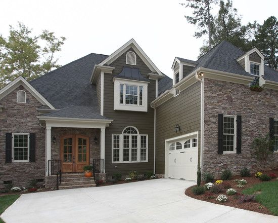 Traditional Exterior Great Room Design Pictures Remodel Decor And Enchanting Custom Home Exteriors Concept