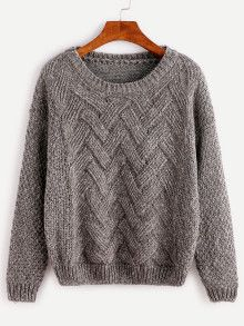 Dark Grey Drop Shoulder Sweater