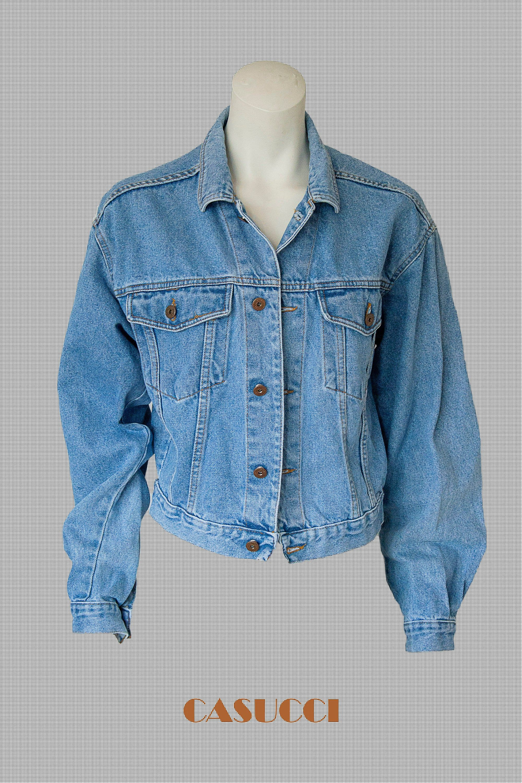 Casucci Vintag Denim Jacket Made In Italy Size M 1990 90s Etsy Denim Jacket Jean Jacket Outfits How To Wear Denim Jacket