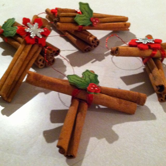 Homemade Cinnamon Stick Ornaments Holiday Crafts Homemade Gifts
