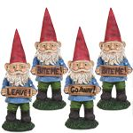 Garden Gnomes w/Attitudes (Set of 4)