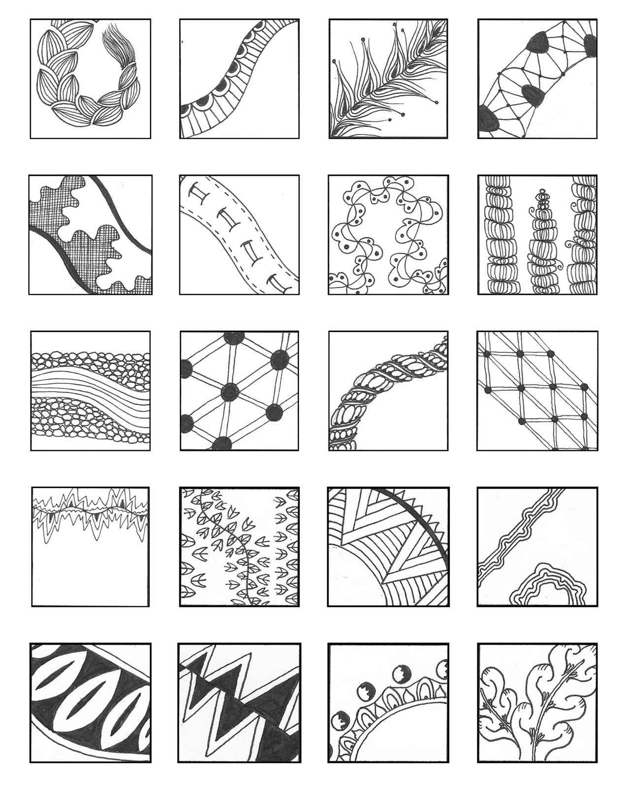 free download linear style pattern sheets  zentangles  - linear style pattern sheets
