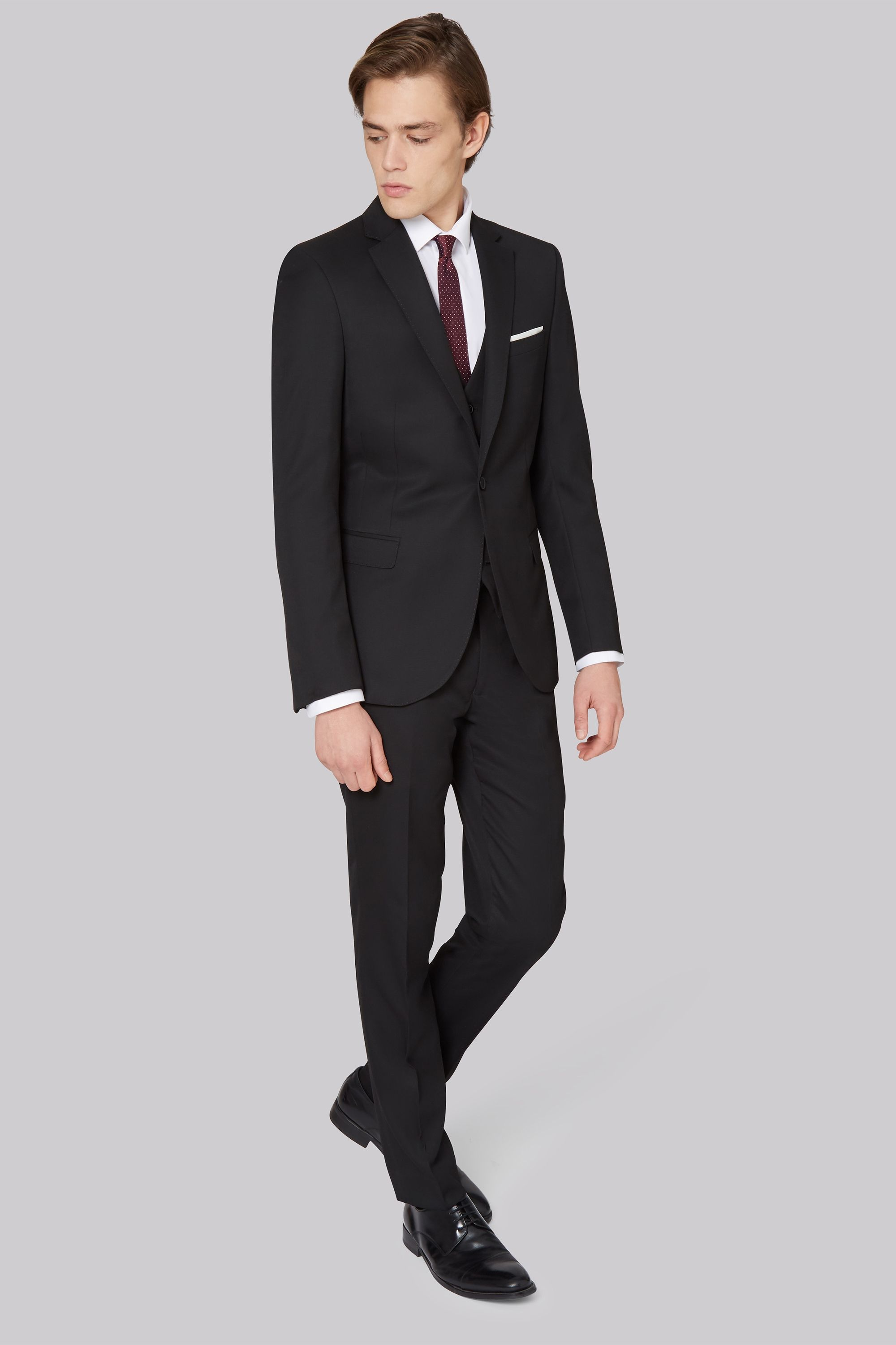 Moss London Skinny Fit Black Jacket For a super-slick look, this ...