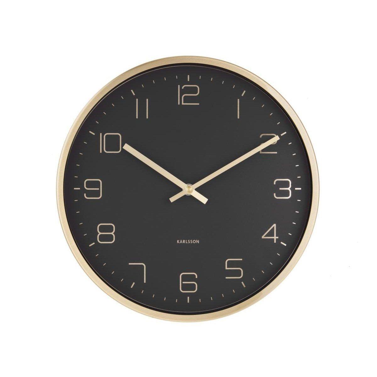 Horloge Gold Elegance Ronde Noir Karlsson L30 X H30 Cm