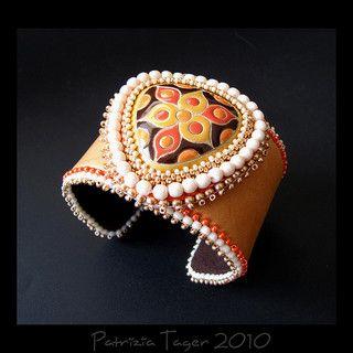 Trillium - Orange Leather Cuff | Flickr - Photo Sharing!