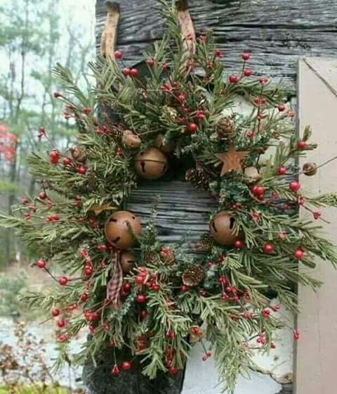 Jingle Bell Wreath Bells a\u0027Ringing Pinterest Wreaths, Jingle