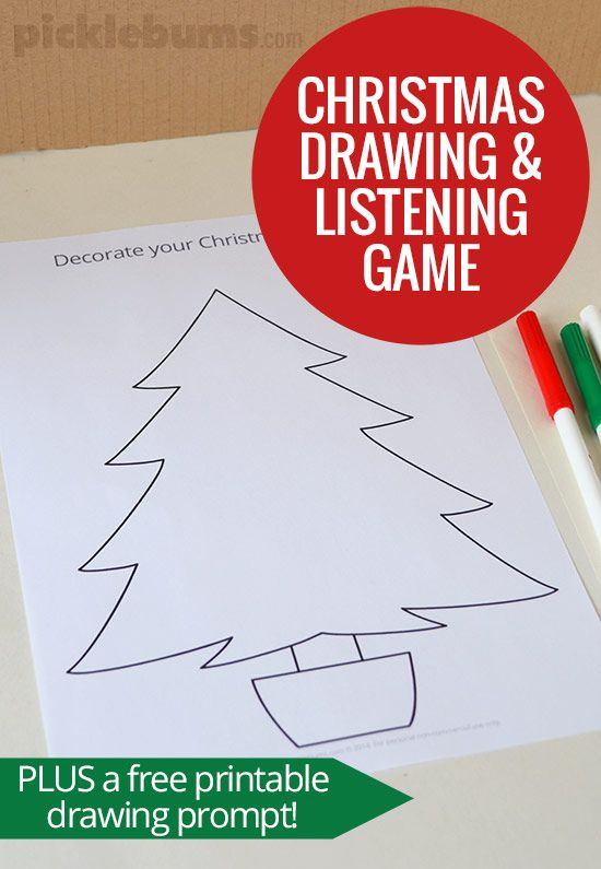 Christmas Drawing and Listening Game | Navidad, Clase de español y ...