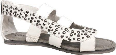 Women's Groove Footwear Bella Sandal - White Heavy Synthetic/Studded Sandals