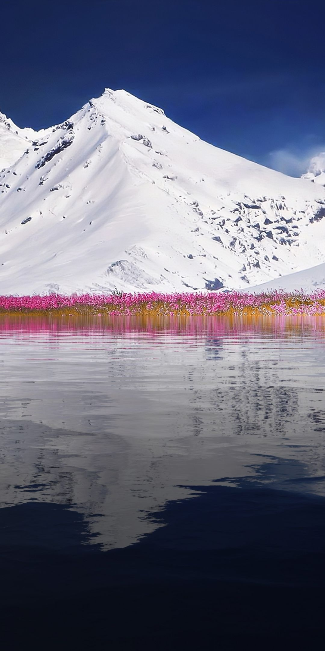 Mountains Winter Landscape Lake Reflections Nature 1080x2160 Wallpaper Lake Landscape Mountain Landscape Winter Mountain