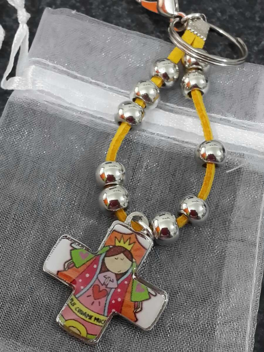 4f496a470 Denario Decenario Gamuza Bautismo Comunion Souvenirs Plis en Mercado Libre  Argentina