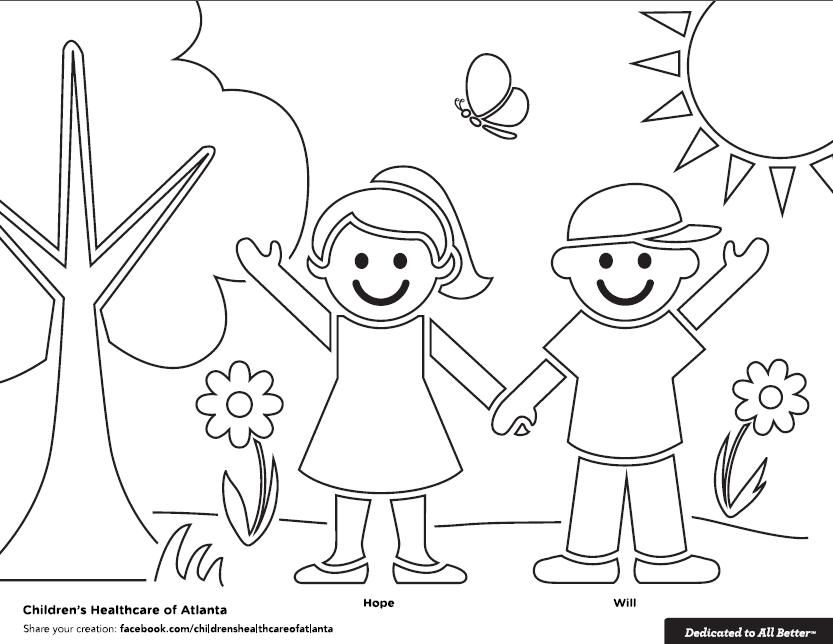 Get a copy of the Hope and Will Spring coloring sheet at www.choa ...