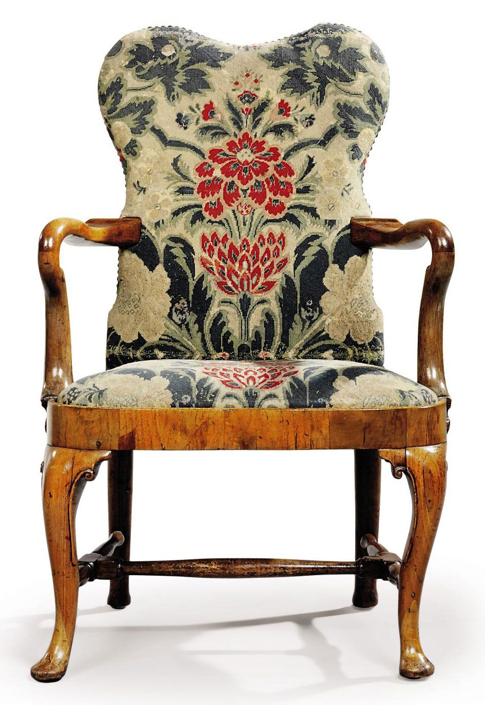 C1720 A Queen Anne Walnut And Needlework Armchair Circa 1720 Price Realised Gbp 15 000 Queen Anne Furniture Armchair Rustic Chair