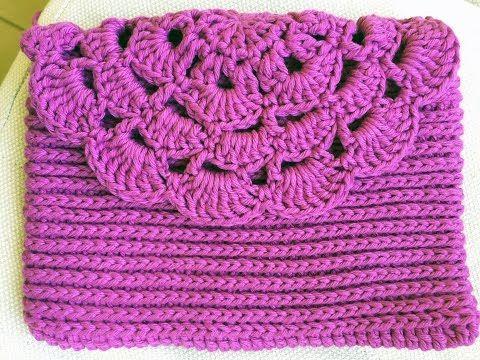 Monedero o bolso de una pieza tejido a crochet - Tejiendo Perú
