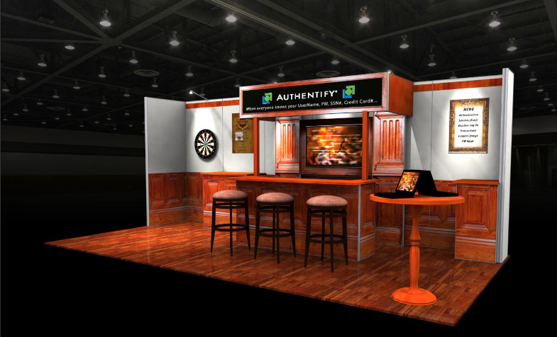 Exhibition Stand Builders Brisbane : Authentify tradeshow booth trade show booths exhibition