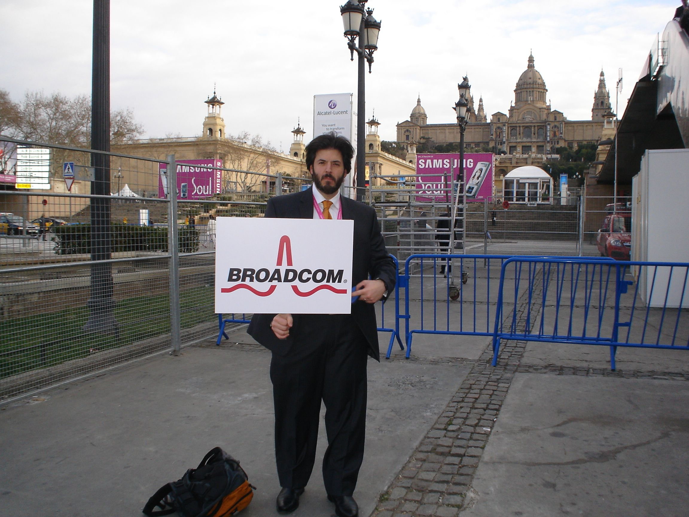 I called this look 'the start-up' due in large part to my lack of time or inclination for grooming at the time - for Broadcom at MWC 2008 in Barca