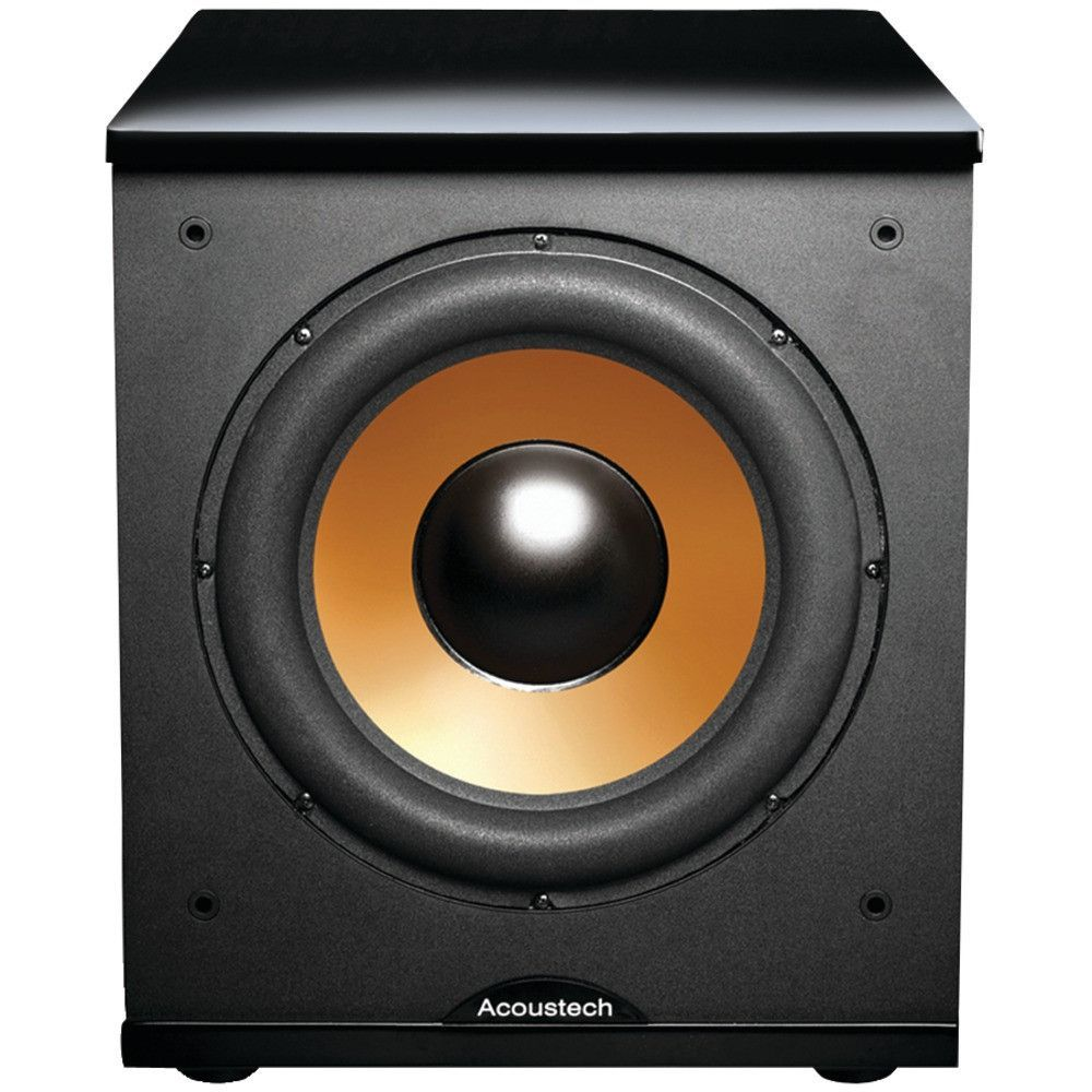 Bic America 12 Front Firing Powered Subwoofer With Black Lacquer Active Crossover Electronic Design Top 500w Max