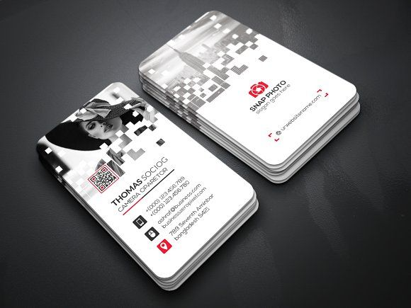 Pixel Business Card By Creative Idea On Graphicsauthor