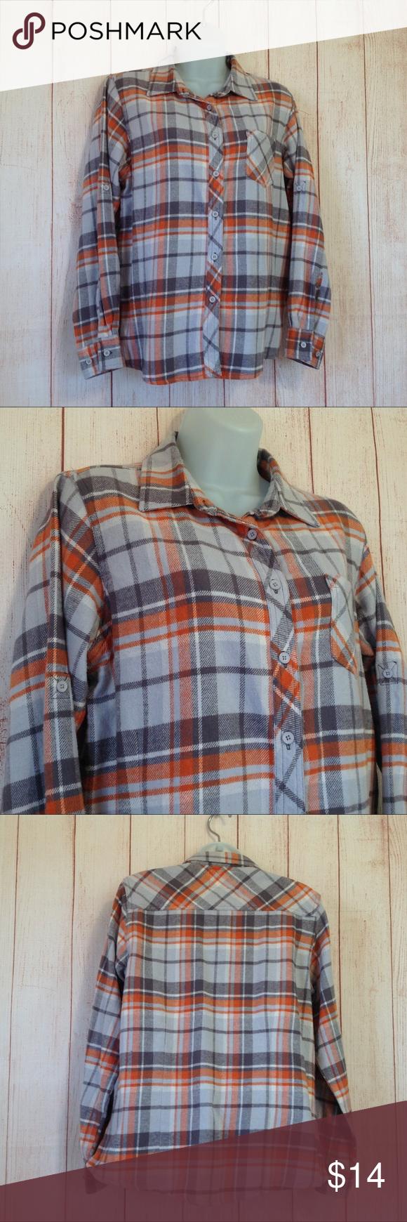 Orange flannel jacket  Old Mill Orange Plaid Flannel Shirt  Plaid flannel Flannel shirts