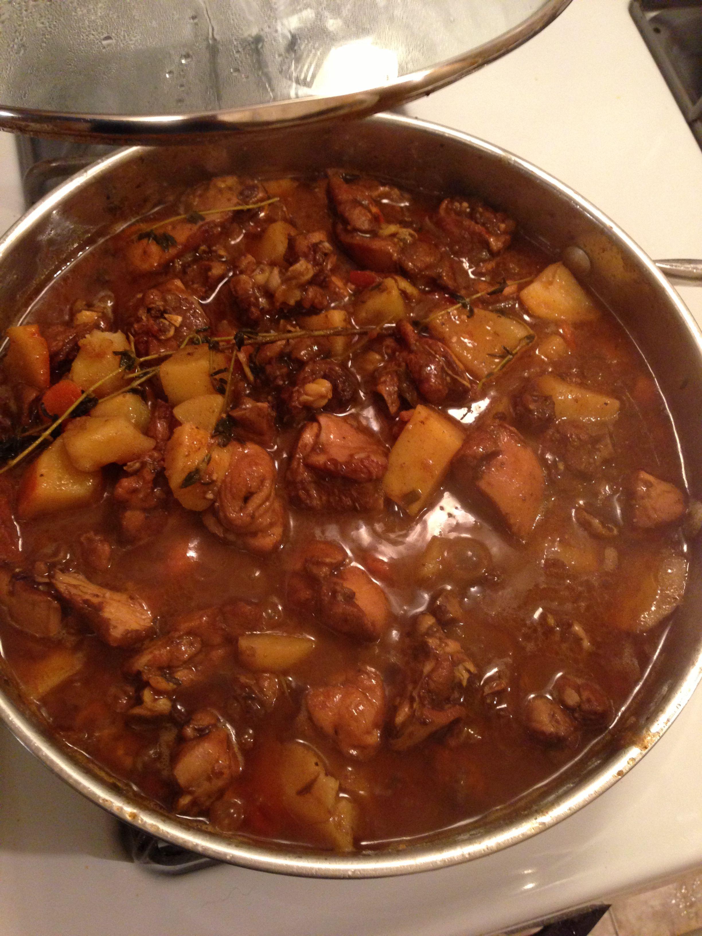 Stew chicken. Jamaican style