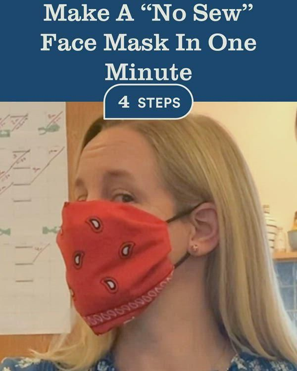 "Photo of Make A ""No Sew"" Face Mask In One Minute"