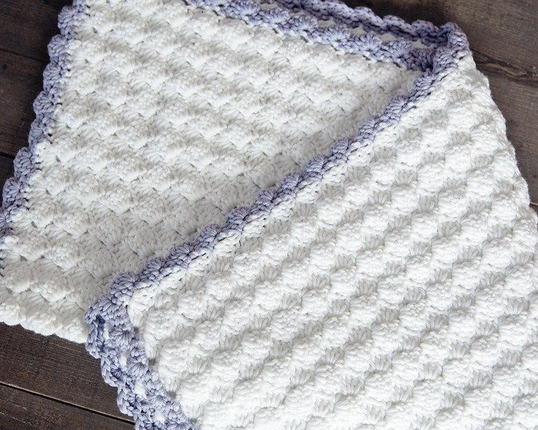 Free Crochet Baby Blanket Pattern | trico blanket | Pinterest