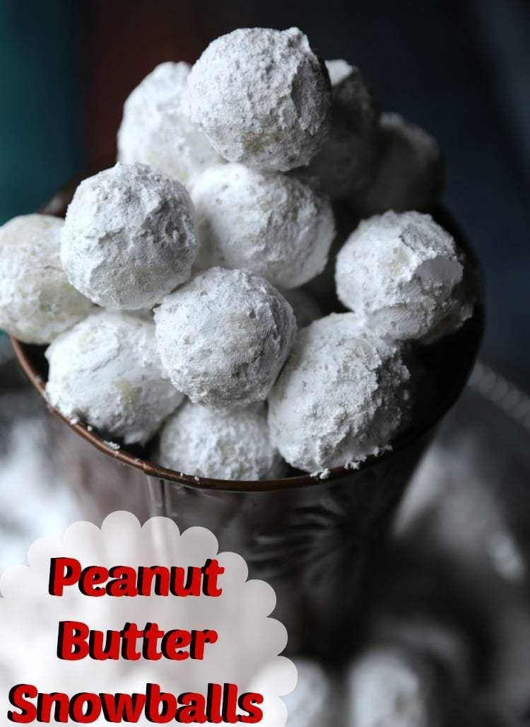 Quick Easy No Bake Peanut Butter Snowballs