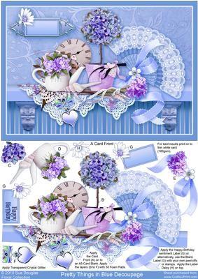 Pretty Things in Blue Decoupage